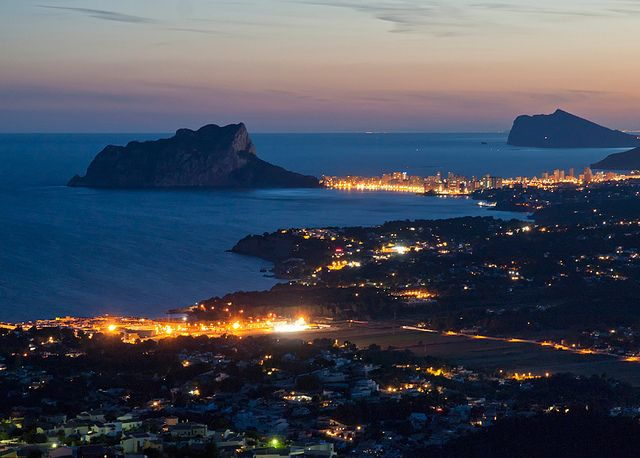 Moraira-Calpe y el Mediterraneo. | Flickr - Photo Sharing! Summer night. Costa Blanca.  Spain