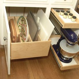 Great idea for trays, bakeware, cooling racks, cookie sheets  contemporary kitchen by Al Williams