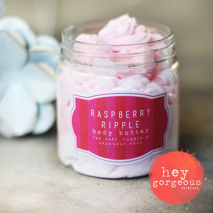 Hydration is at it's best with this Raspberry Ripple Whipped Mousse or Body Butter.