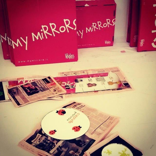 #workinprogress #Mymirrors #fuorisalone2015 #Milandesignweek #agorà31