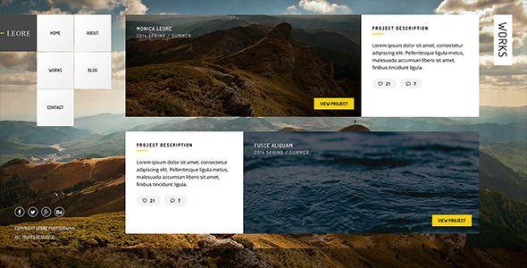 Leore - Creative Photography Wordpress Theme