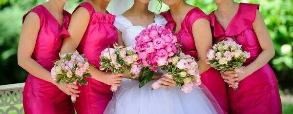 Vibrant happy wedding colors