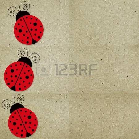 ladybird: paper background three with ladybugs