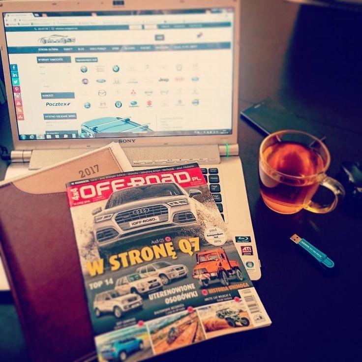 Poranna prasa & praca :)  #autoadams #autos #cars #samochody #motoryzacja #Polska #work #goodmorning #praca #prasa #offroad #audi #Q5 #Q7 www.autoadams.com