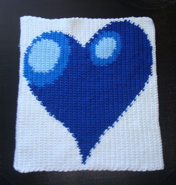 """One of my discounted crochet photo """"practice"""" patterns (only 2 bucks!). I used intarsia crochet to change colors on this one. Pattern available here ... http://www.yarnoverpullthrough.com/free-crochet-photo-patterns"""
