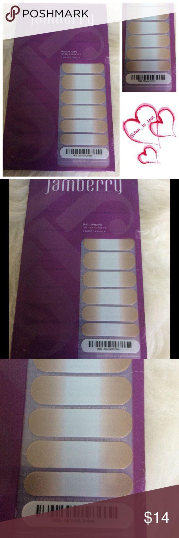 Jamberry Almond Ombré 1 Sheet Jamberry Nail Wraps Almond Ombré 1 Sheet Jamberry Accessories
