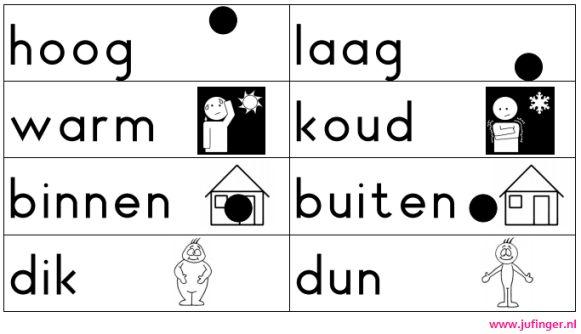 Woordenschat - Tegenstellingen - Juf Inger