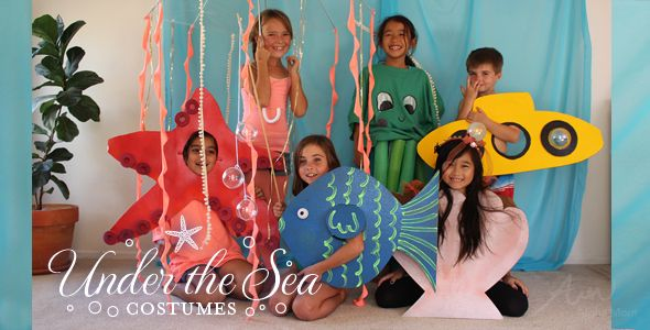 Under the Sea Easy Costumes   DIY Under-The-Sea Kids' Costumes for Halloween: Round up!