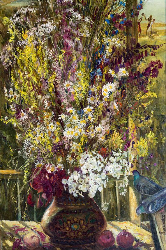 Still Life Wall Art-Summer-Flowers Oil Painting от InnaShirokova