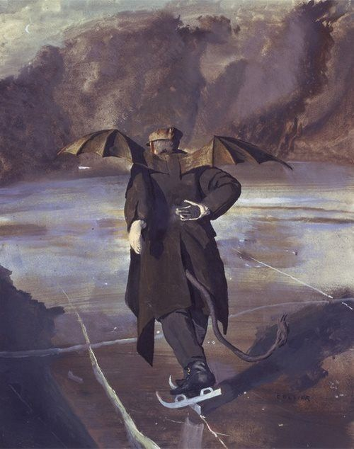 The Devil skating when Hell freezes over by John Collier