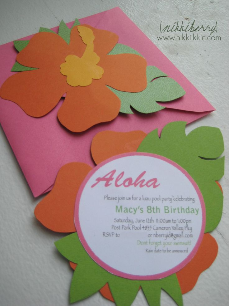hawaiian birthday invitations | Hawaiian Birthday Party | NikkiikkiN