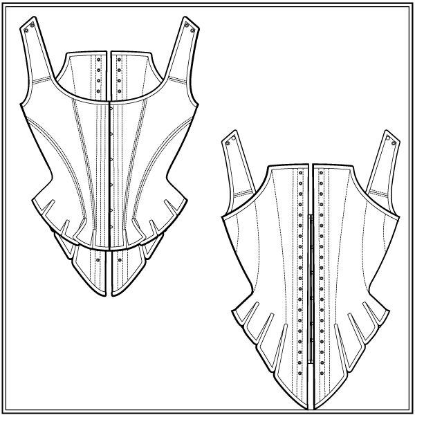 Outstanding Sewing Pattern Corset Composition - Easy Scarf Knitting ...