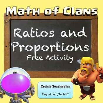 Math of Clans activity based on popular video game | Ratios #edtech #mathchat