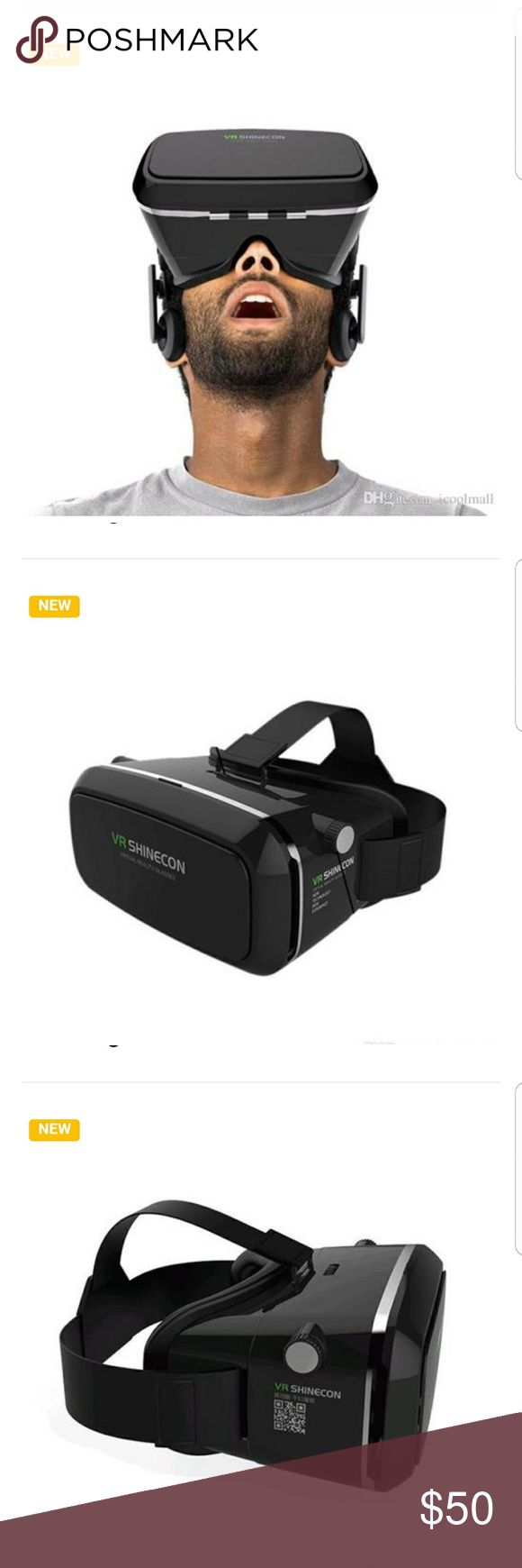 3D Glasses Virtual Reality Game for any smartphone Features:  1)High-precision lens provides a clearer picture and a better view for great 3D cinema experience. 2) Adjustable eye distance and Pupil distance. 3) Compatible with 3.5' x 6' cell phones. 4) Made of high quality and environment-friendly ABS material. 5) Flexible and adjustable headband for comfortable wearing. 6) Package includes: 3D virtual reality glasses x 1, user manual x 1 Other