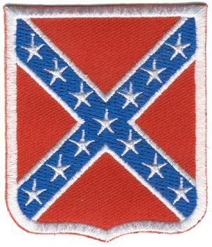 Tygmärke  Sydstat Sköld  Storleken är 6x7 Artikelnummer:10502