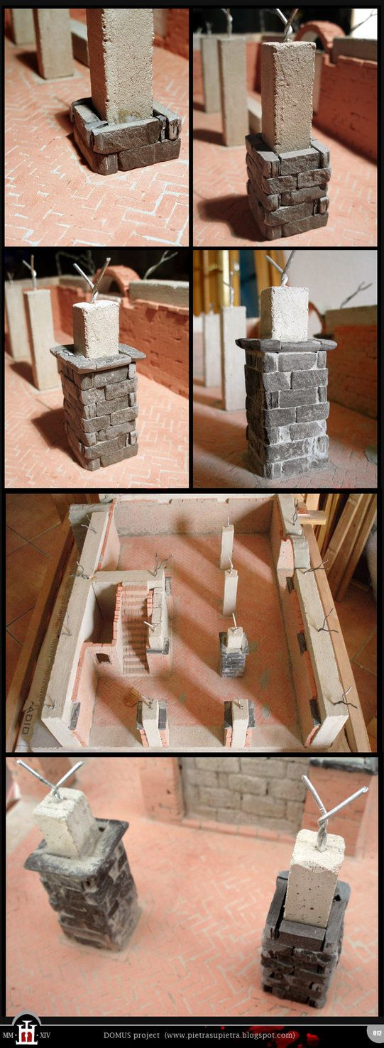 Domus project 12: Stone pillars by Wernerio on deviantART