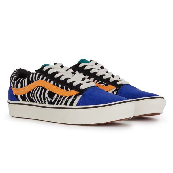 Vans - Old skool comfy zebra Bleu Bleu | Courir | Vans old skool ...