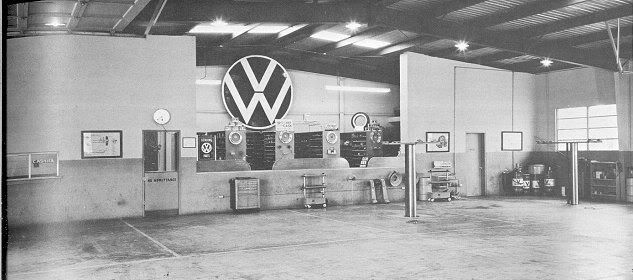 hazet in installation 1950 39 s vw dealership aircooled volkswagen porsche pinterest vw. Black Bedroom Furniture Sets. Home Design Ideas