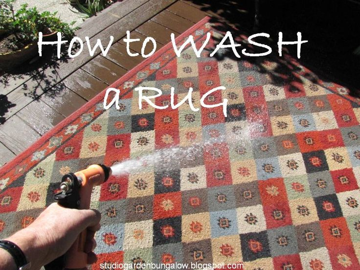 How to Wash a Rug--cool Spring Cleaning tips that we all should know @ StudioGardenBungalow.