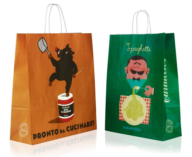 Carluccio's Carrier Bags | Irving & Co