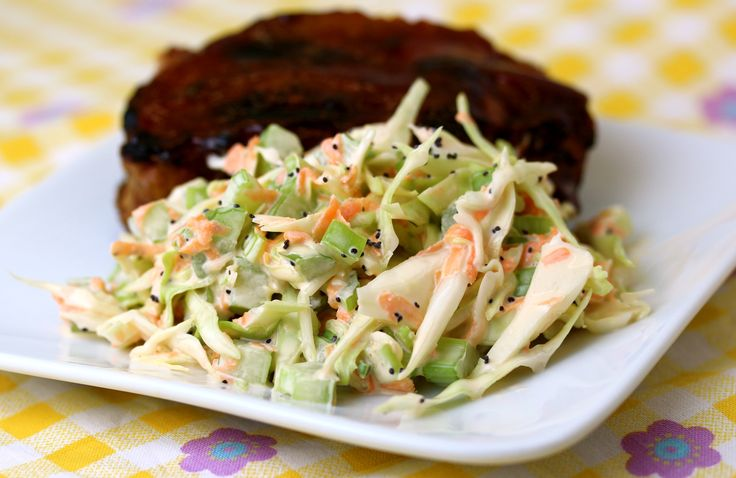 Veggie Box: Easy Coleslaw with Baby Back Ribs