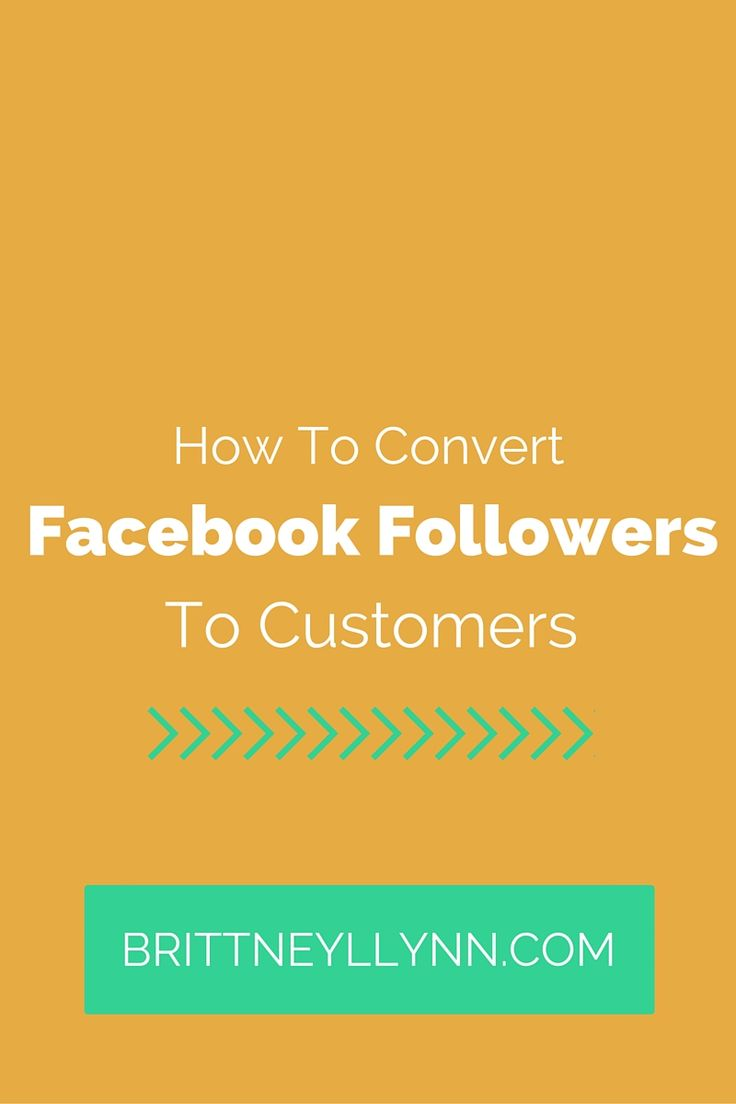 Facebook followers are great and all, but your ultimate goal should be to convert some of those followers to real live customers! This blog post highlights how to convert Facebook followers to customers.