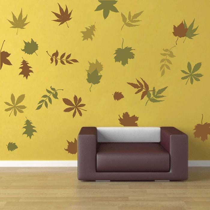 autumn leaves wall art design trendy wall designs - Wall Art Design Decals