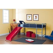 "DHP - Junior Loft with Slide, Red - Dorel Home Products - Toys""R""Us"