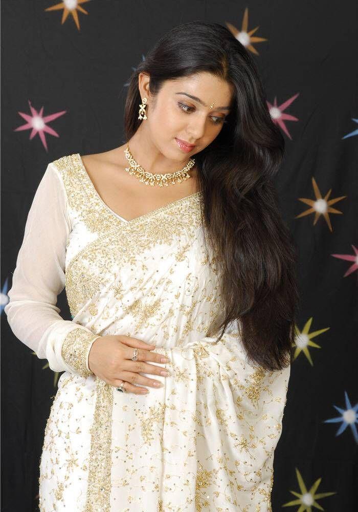 Gold Sari | White saree, gold zari work, long sleeve saree blouse saree blouse ...
