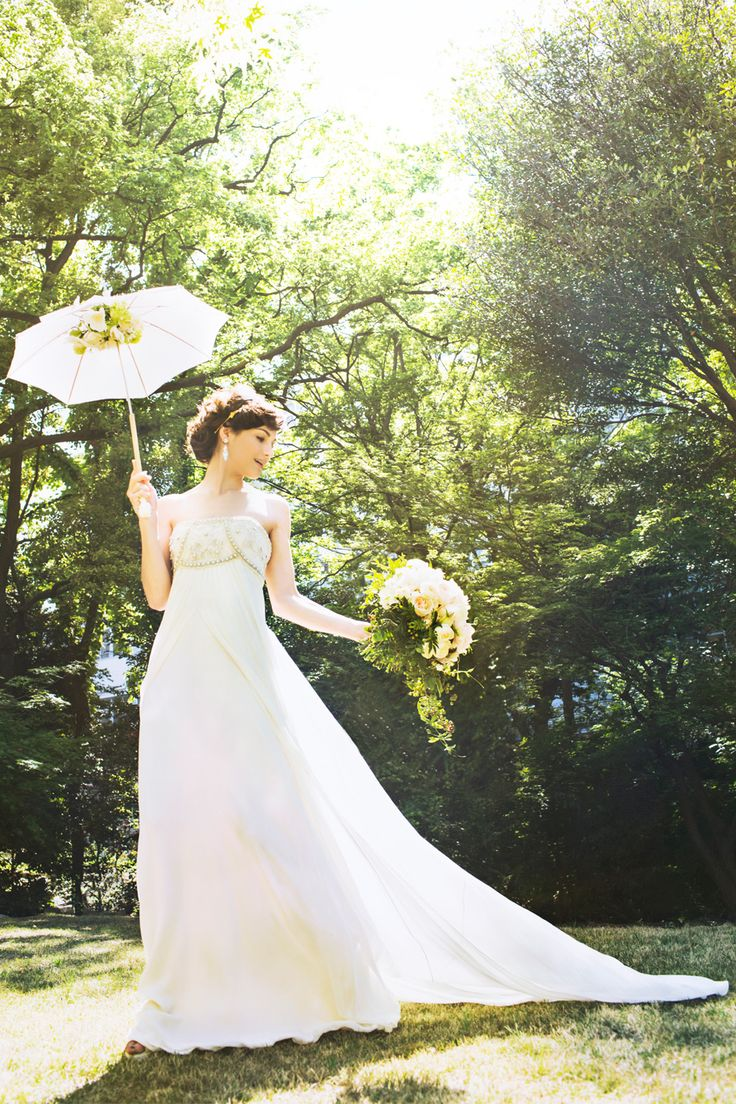 #CRYSTAL MIRAGE #NOVARESE #weddingdress  #Temperley London #ノバレーゼ #ウエディングドレス #エンパイア #シフォン #ビーズ #テンパリー・ロンドン