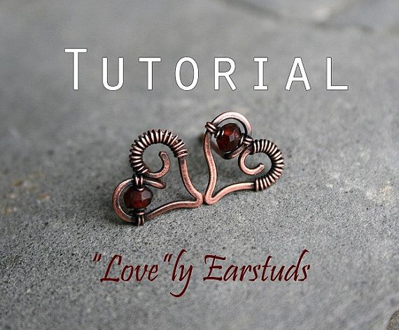 Tutorial: LOVEly ear studs by YourBeadsAndFindings on Etsy