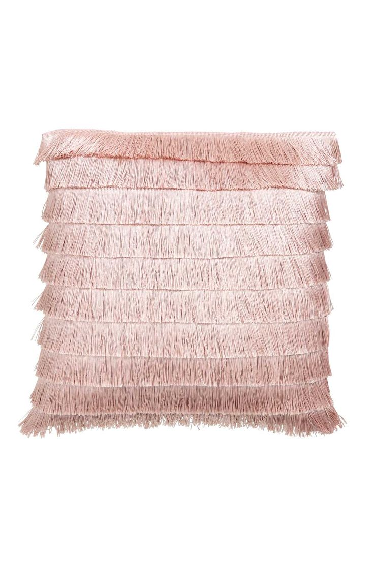 Cushion Cover with Fringe | Light pink | H&M HOME | H&M US