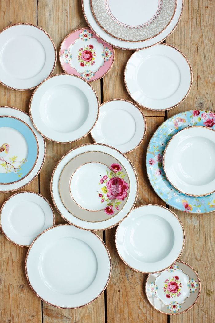 PiP Floral Whites Dinerbord