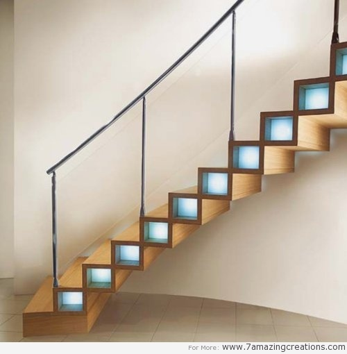 A creative design that will transform the simple #staircase into a creative lighting design.