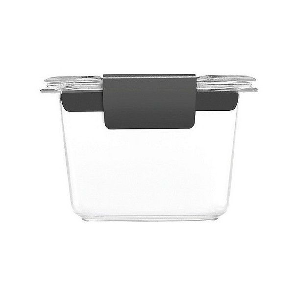 Rubbermaid Brilliance Mini Cup ($5.99) ❤ liked on Polyvore featuring home, kitchen & dining, food storage containers, clear, bpa free food storage containers, rubbermaid food storage containers, stackable food storage containers and bpa free plastic food storage containers