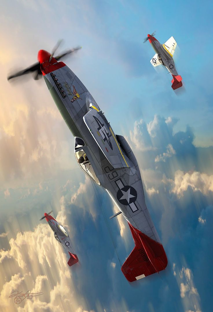 "bmashina: ""P-51 Mustang by Kurt Miller. """