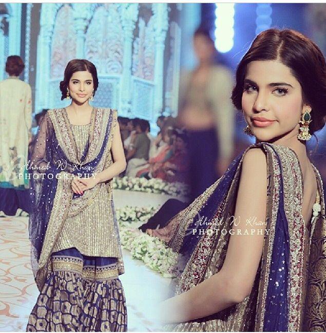 Sana Sarfaraz wearing Nida Azwer. Pantene Bridal Couture Week 2014