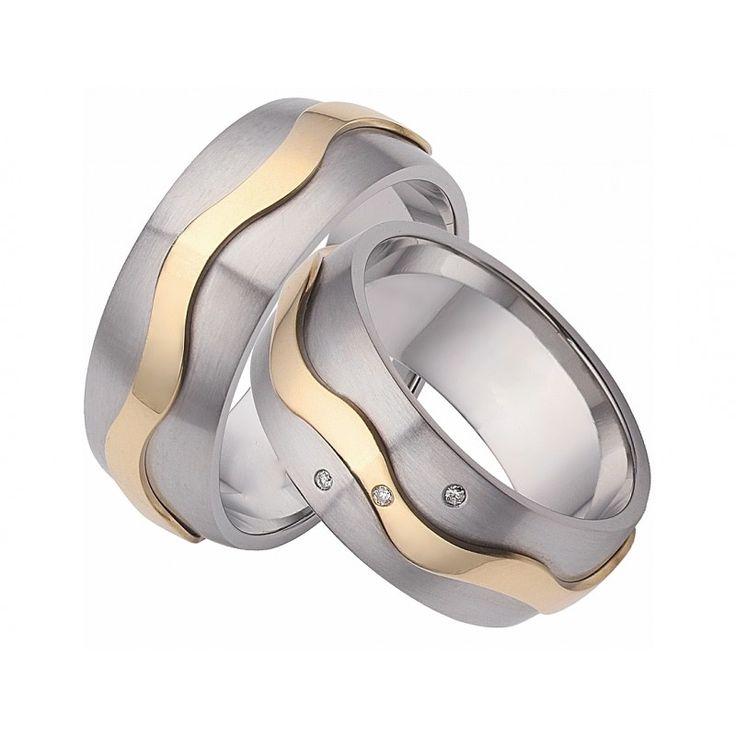Eheringe gold mit 3 diamanten  76 besten Trauringe / Eheringe Bilder auf Pinterest | Eheringe ...