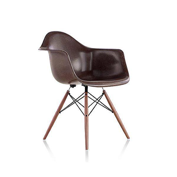 Herman Miller Green Eames Molded Fiberglass Armchair