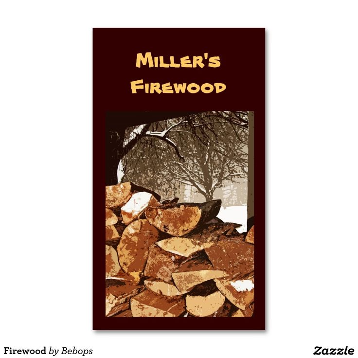 Firewood Business Card   Business cards and Business