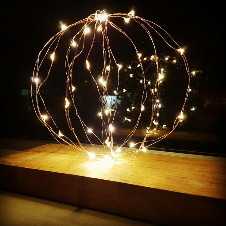 Light up wire sculpture. Illuminated sphere.  https://www.facebook.com/creationsbyfelicity/