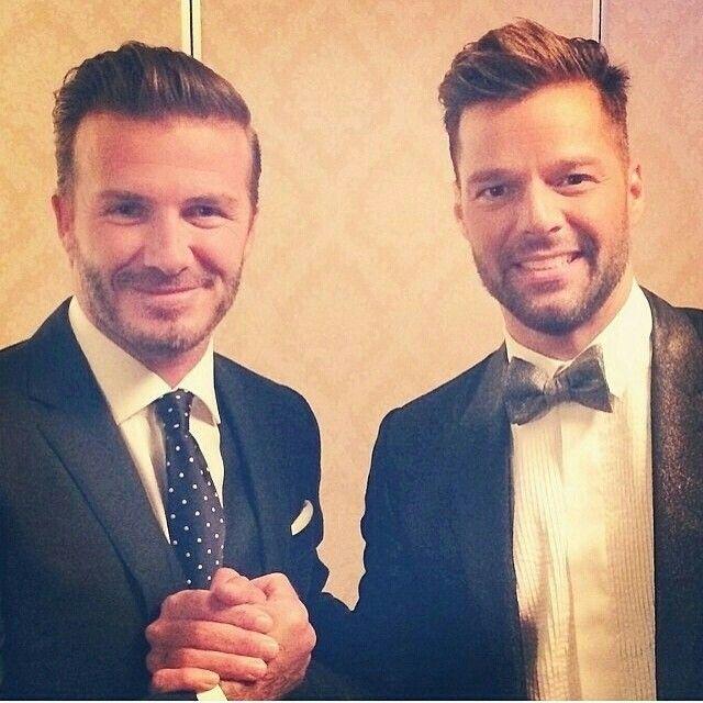 David & Ricky backstage at China Music Awards(2014) #davidbeckham #rickymartin #behindthescenes #follow #followme
