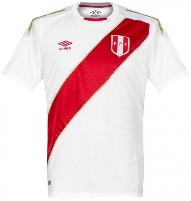 Peru Home Shirt 2018 2019   Perú   Pinterest   Peru, Football shirts ... a9359175167