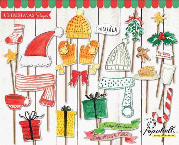 24 pieces Christmas Props for Christmas Party. Instant by Popobell