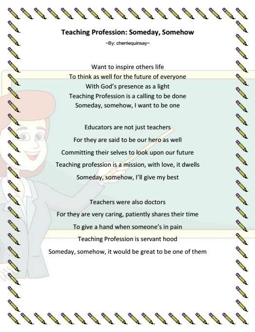 as a future teacher someday
