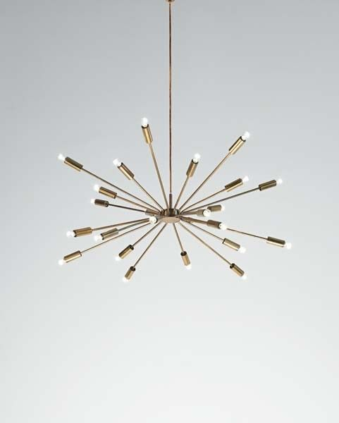 "GINO SARFATTI, ""Sputnik"" ceiling light, 1950s"