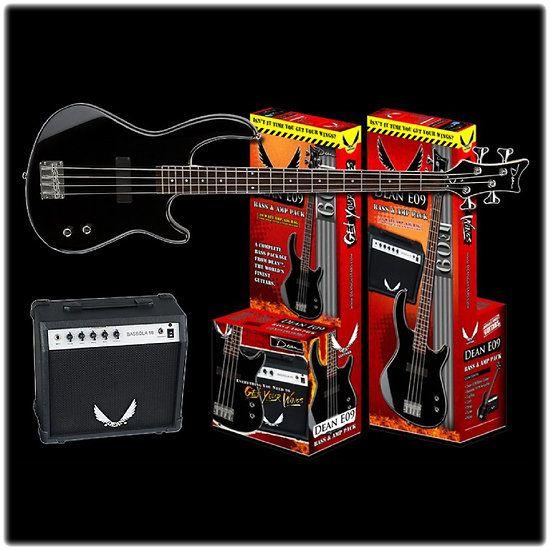 DEAN GUITARS E09 CBK PK - Pack Basse - Electrique 4 Cordes