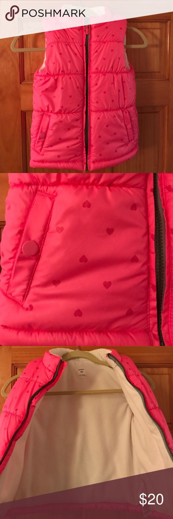 Carter's Girls Puffer Vest Hardly worn Near perfect condition!! Size 6x. Carter's Jackets & Coats Vests