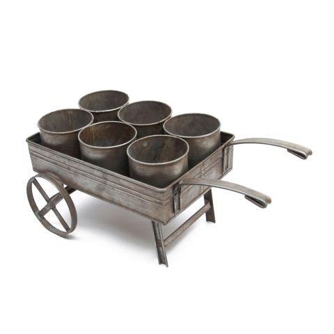 Wheelbarrow Herb Pot Set - Casafina
