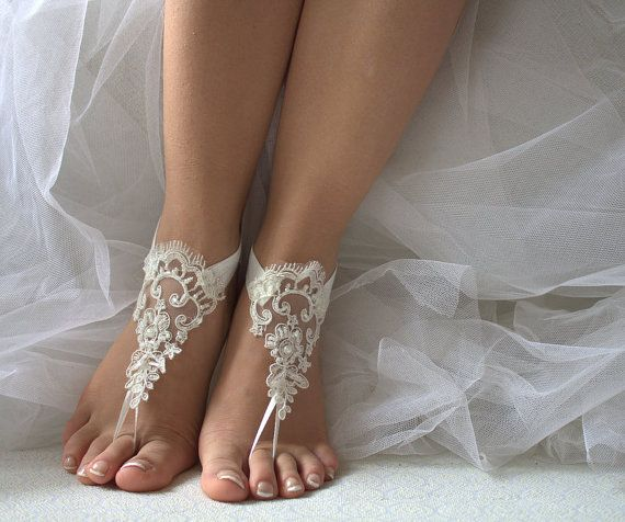Hey, I found this really awesome Etsy listing at https://www.etsy.com/listing/290558617/beaded-ivory-lace-wedding-sandals-free